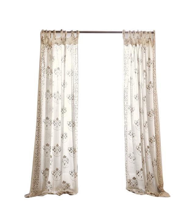 Anthropologie Gleaming Elora Curtain
