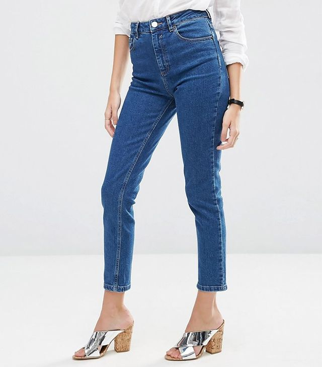 ASOS Farleigh High Waist Slim Mom Jeans in Juno Wash