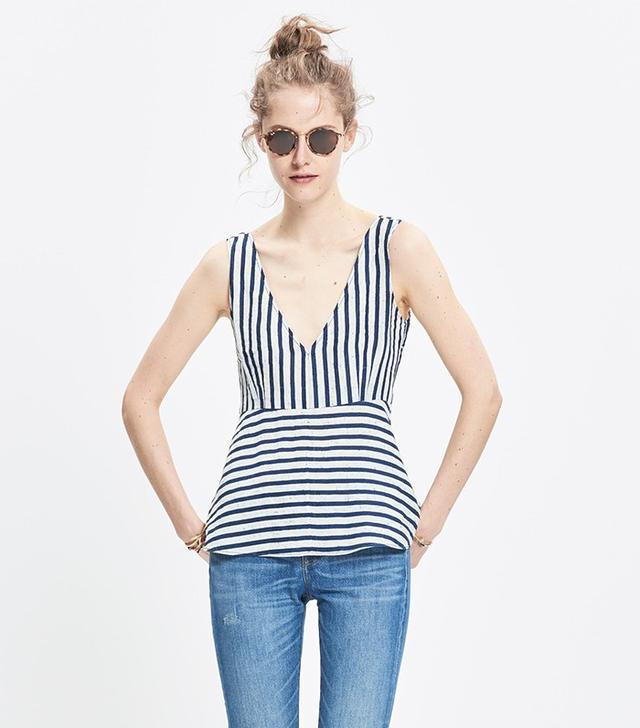 Madewell Rivet & Thread Stripe Top