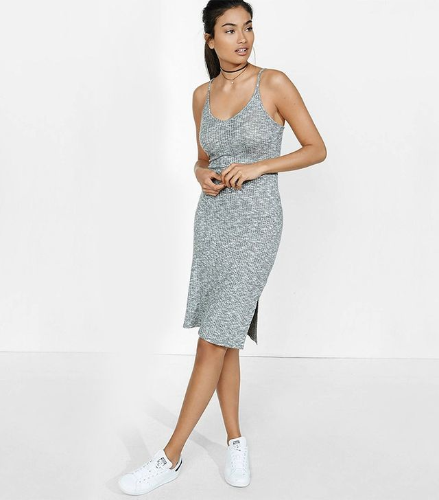 Express Marled Ribbed Cami Slip Dress