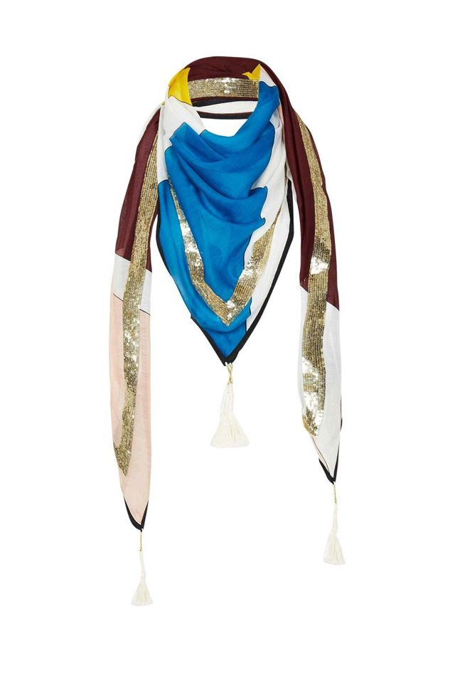 Sass & Bide Star Shadow Embellished Scarf