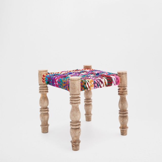 Zara Home Colourful Braided Stool
