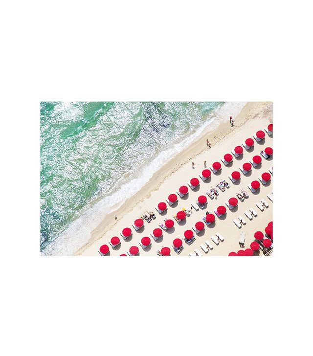 Gray Malin St. Tropez Bright Red Umbrellas