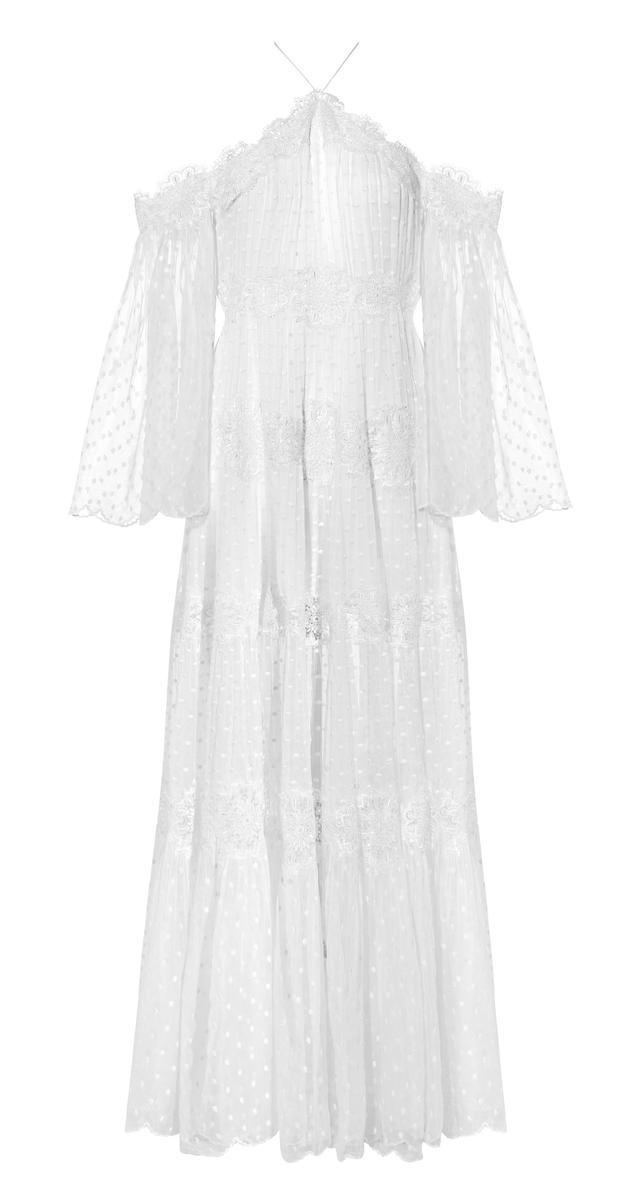 Zimmermann Lace Paneled Maxi Dress