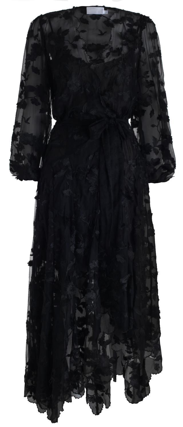 Zimmermann Wrap Effect Silk Maxi Dress