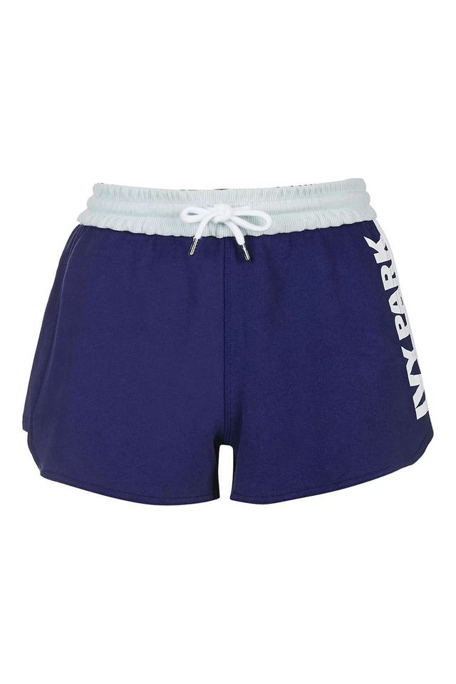 Ivy Park Color Block Loopback Runner Shorts