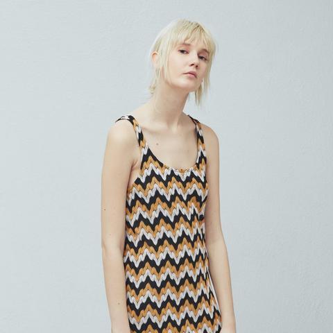 Zigzag Textured Dress