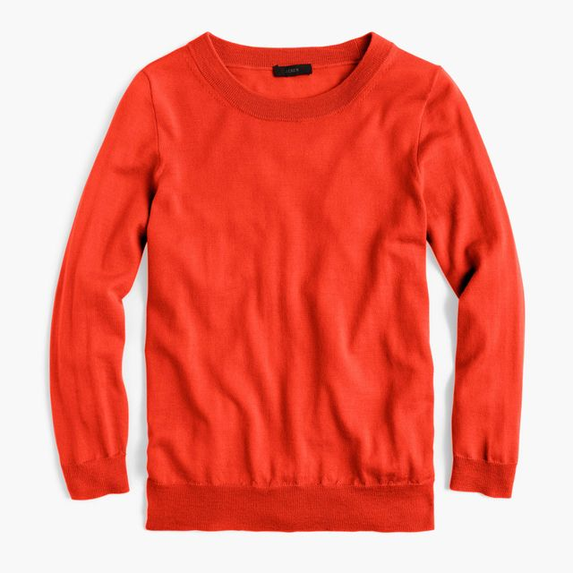 J Crew Tippi Sweater in Bold Red