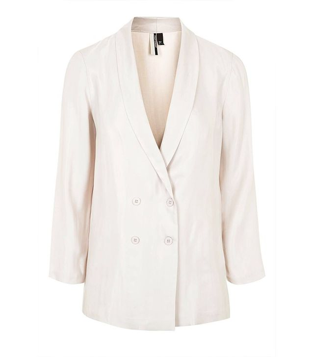 Topshop Satin Stripe Tailored Blazer