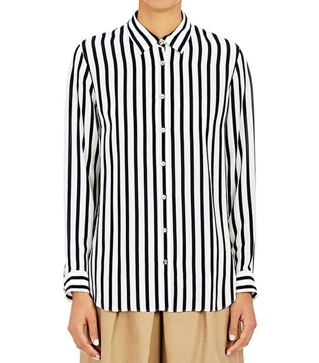 Tomorrowland Awning-Striped Blouse