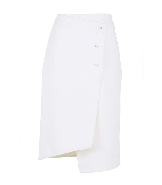 Tibi Anson Stretch Wrap Skirt