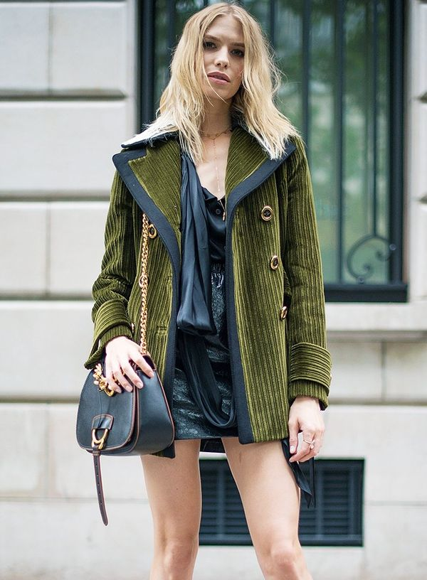 Style Notes: Lucky Elena Perminova has scooped up Miu Miu's bag of the moment, the Dahlia Shoulder Bag(£1320).