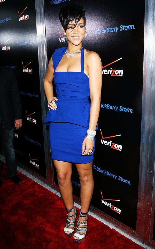Who: Rihanna What:Pre-Grammy Launch, February 2009 Wear: Preen Power Dress