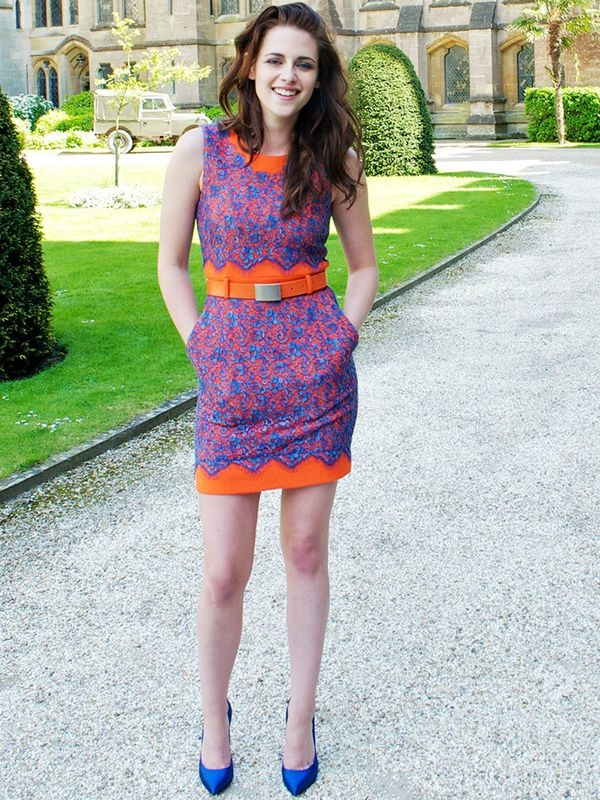 Who: Kristen Stewart What:Snow White and The Huntsmen Press Conference, May 2012 Wear:Preen Pre-Fall 12 dress