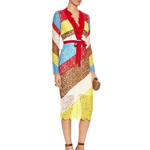 Anoushka V-Neck Lace Dress