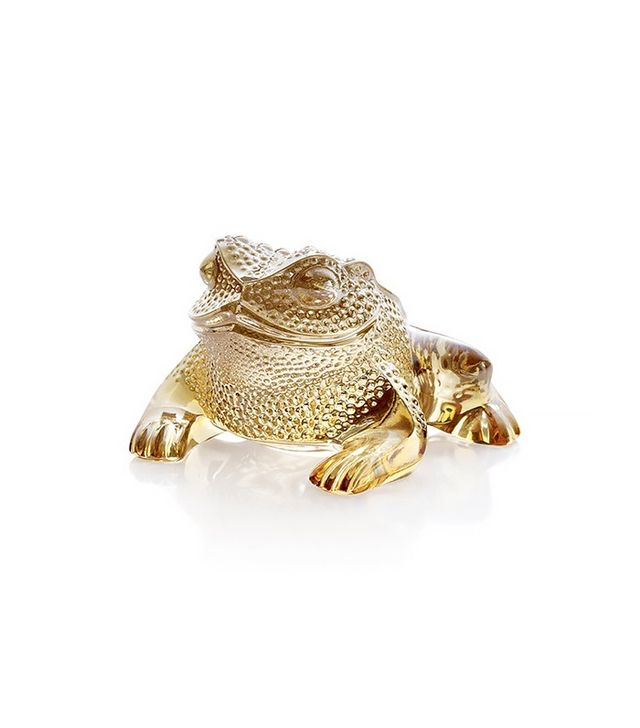 Lalique Gold Gregoire Frog Figure