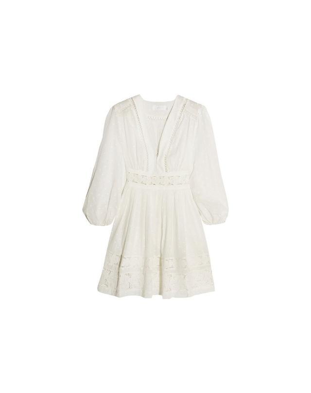 Zimmermann Realm lace-trimmed fil coupé cotton-voile mini dress