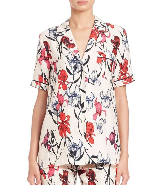 Thakoon Floral-Print Top
