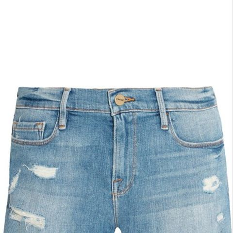 Le Cutoff Distressed Denim Shorts