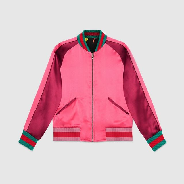 Gucci Gucci Garden Reversible Silk Bomber