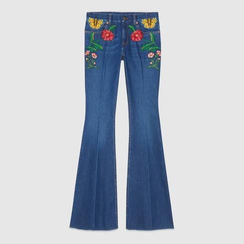 Gucci Gucci Garden Exclusive Denim Pant