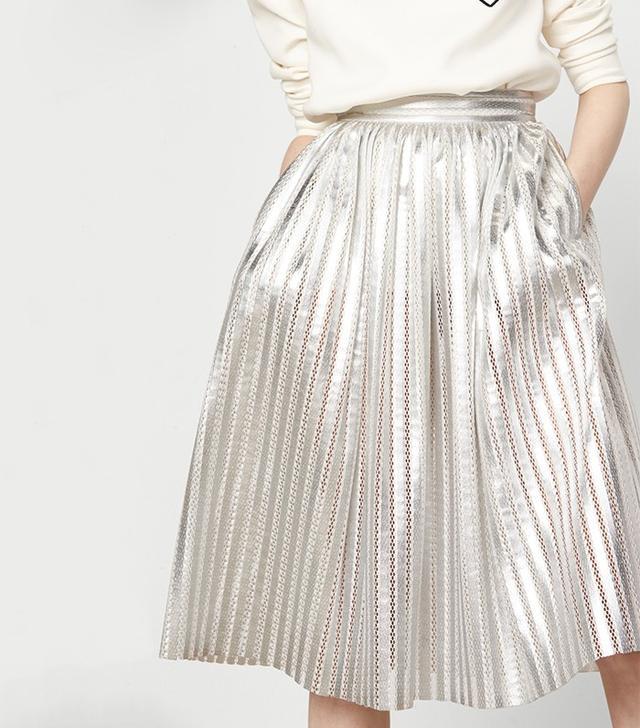 Maje Metallic Skirt