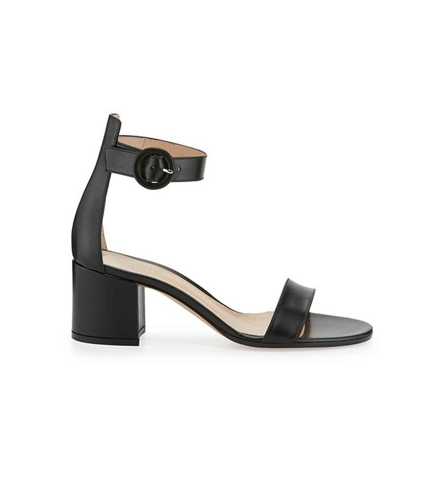 Gianvito Rossi Leather Chunky Heel Sandal