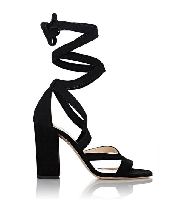 Barneys New York Zea Ankle-Wrap Sandals