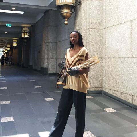 Models off-duty style: Mercy Sang