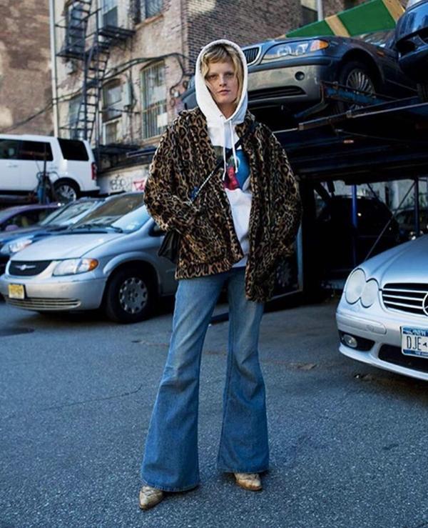 Models off-duty style: Hanne-Gaby Odiele