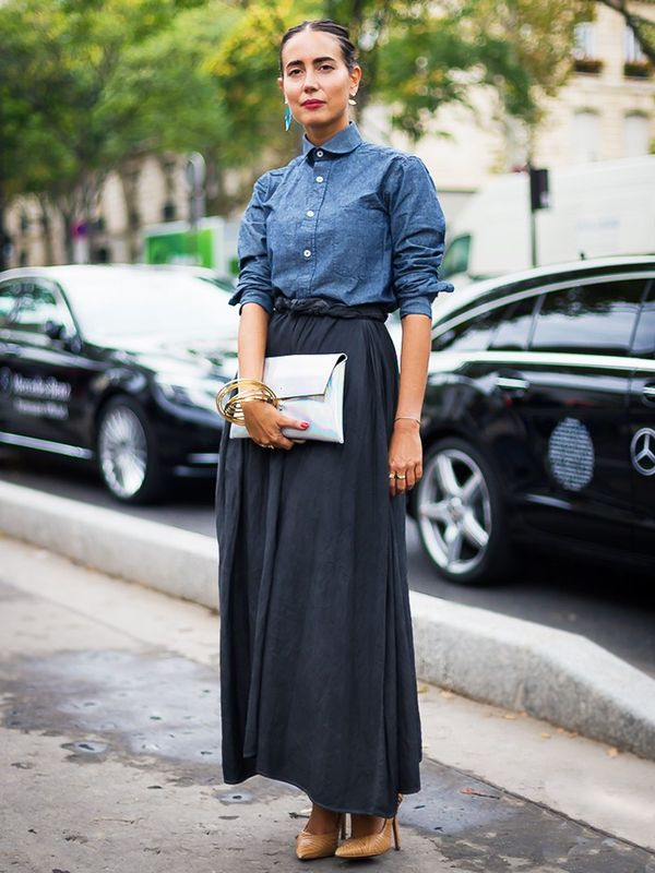 How to wear maxi skirt: Keep it ankle length
