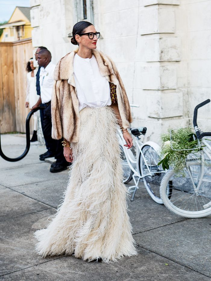 How to wear maxi skirt: Jenna Lyons
