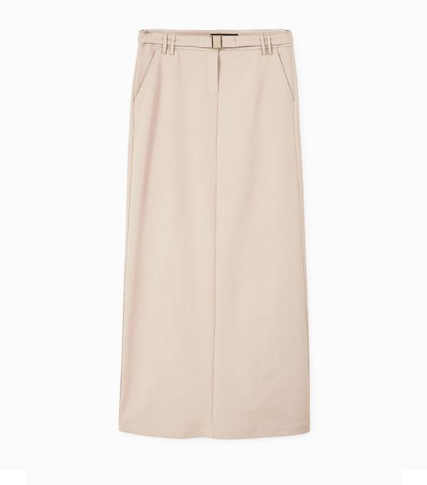 How to wear maxi skirt: Mango Cotton Long Skirt