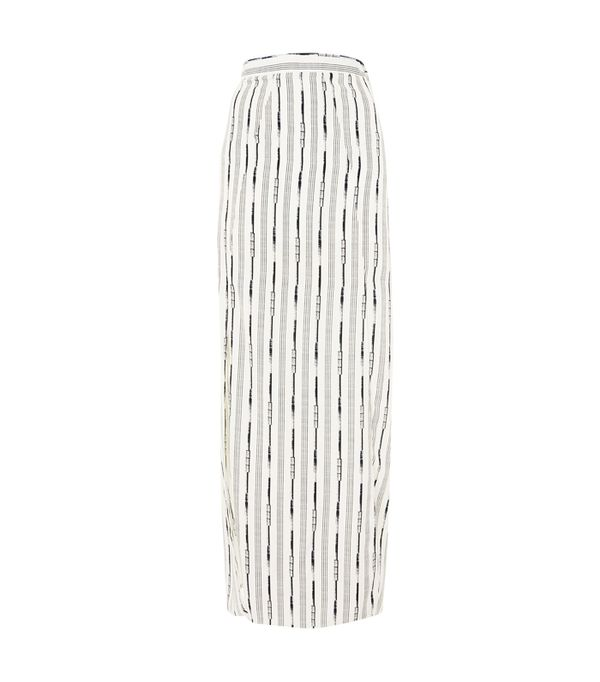 How to wear maxi skirt: Topshop Double Split Maxi Skirt by Love
