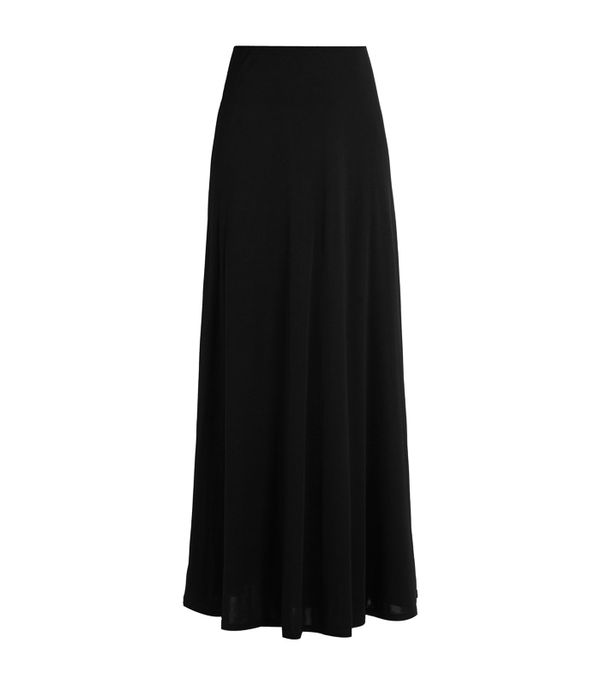 How to wear maxi skirt: The Row Skavel Jersey Maxi Skirt