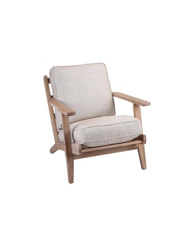 Temple & Webster Modern Classic Linen Leisure Armchair