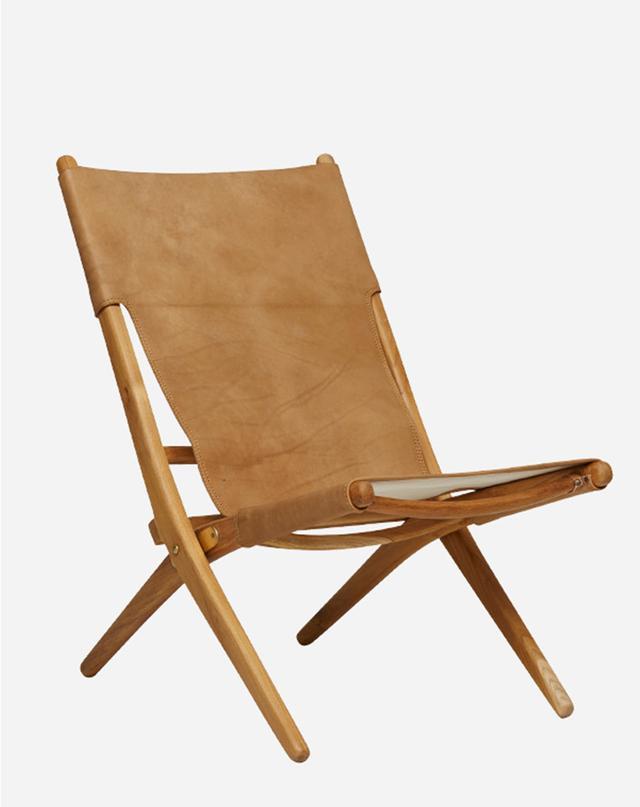 Fenton & Fenton Leather Folding Chair