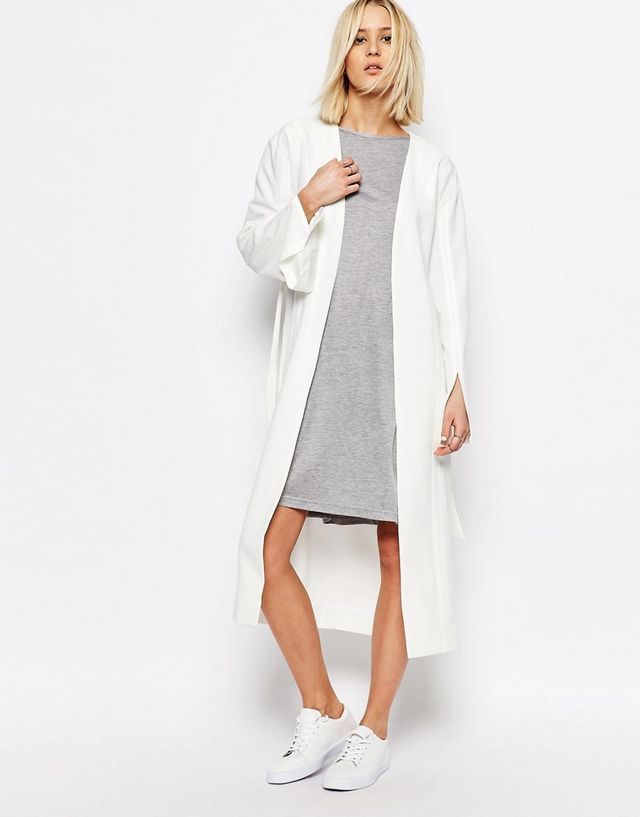 House of Sunny Luxe Tie Front Jacket