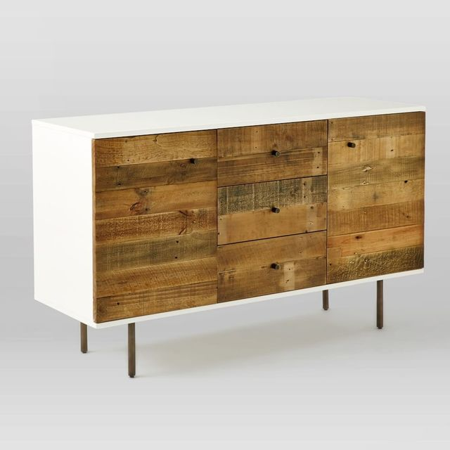 West Elm Reclaimed Wood + Lacquer Buffet