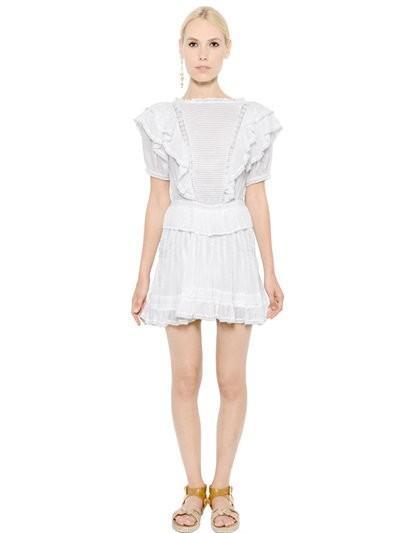 Étoile Isabel Marant Ruffled Cotton Gauze Dress