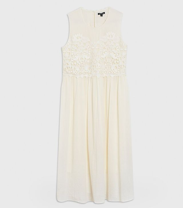 Who What Wear Mixed Lace Shift Dress