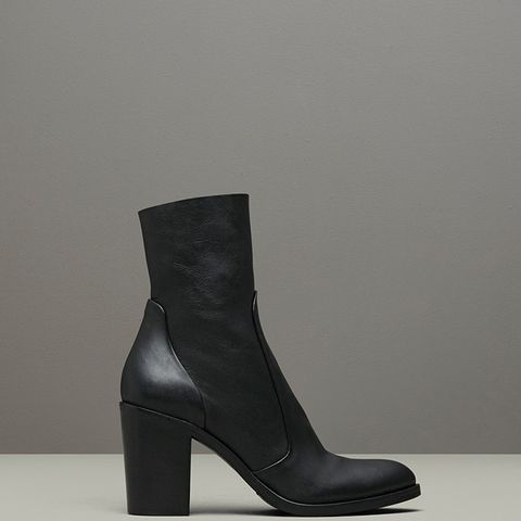 Tucker Pebbled Leather Ankle Boot
