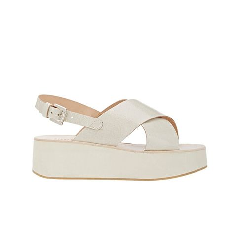 Crisscross-Strap Platform Sandals