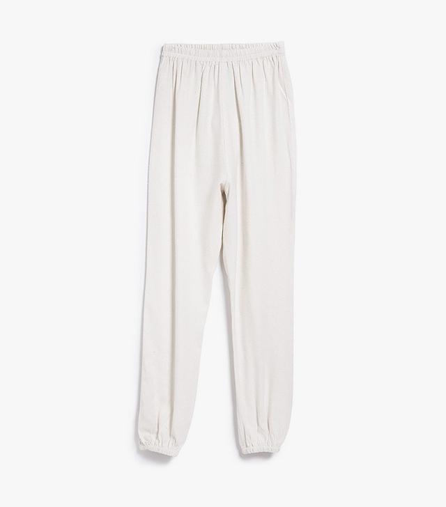 Baserange Jogging Pants in Off White
