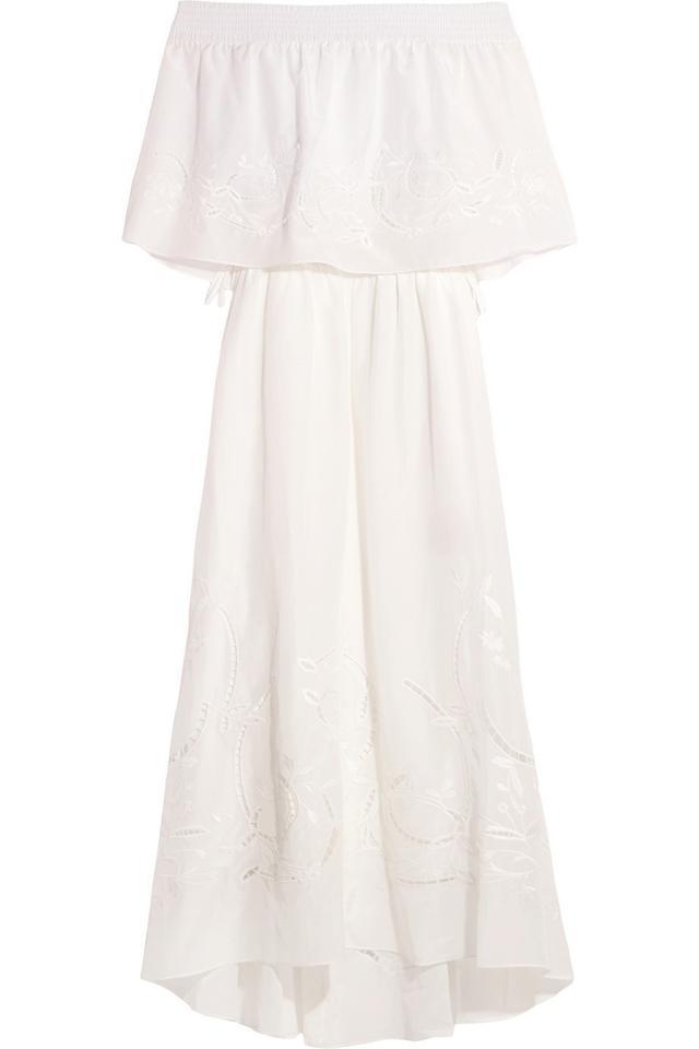 Tibi Carmen Off-the-Shoulder Cotton Dress