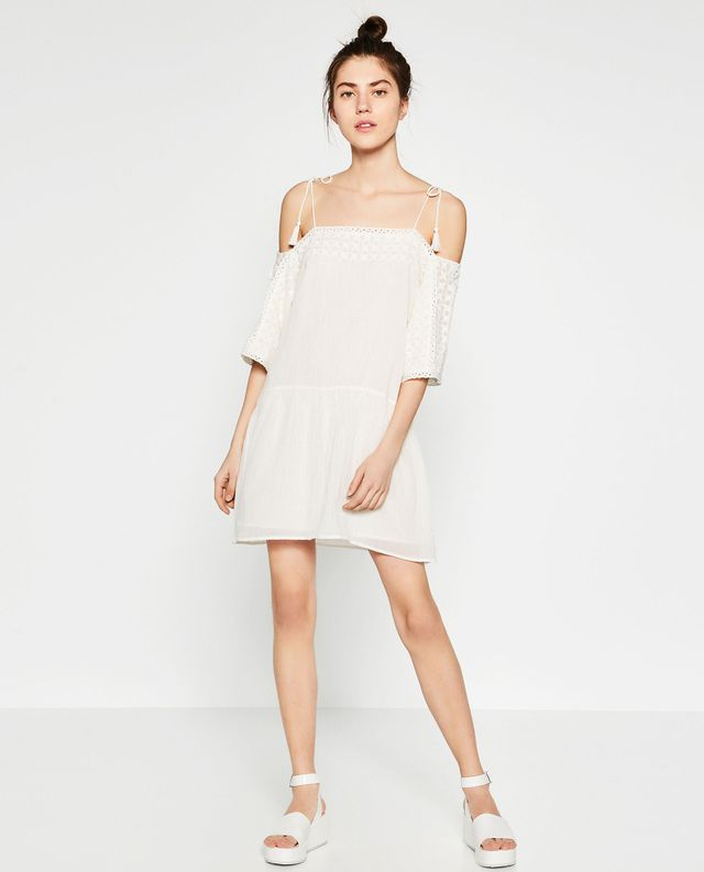 Zara Off-the-Shoulder Emboridered Dress