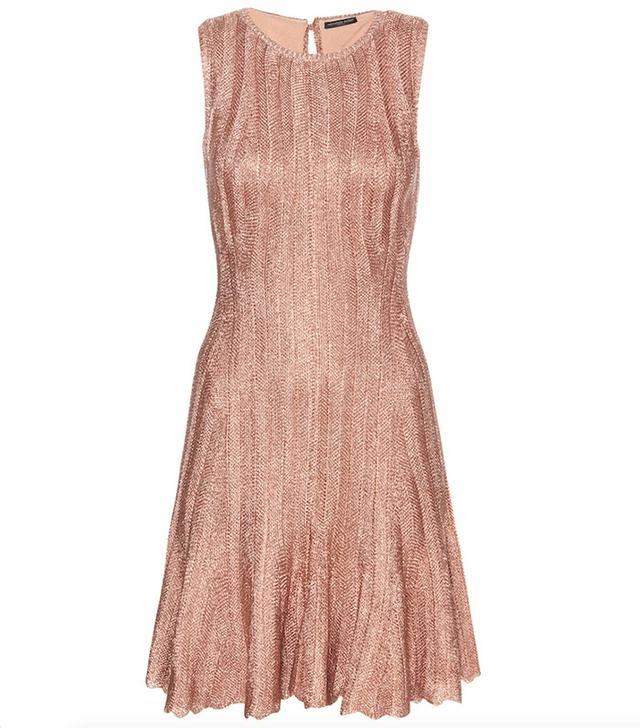 Alexander McQueen Sleeveless Flute Mini Dress