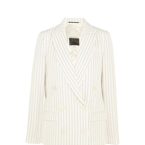 Cuora Pinstriped Stretch-Crepe Blazer