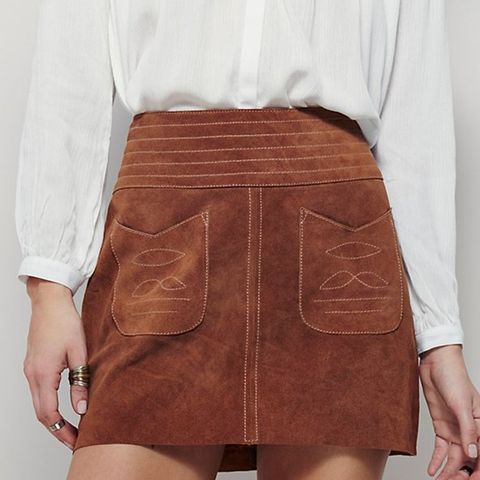 Mad Love Suede Mini Skirt