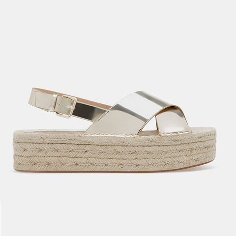 Mettalic Sandal Flatform